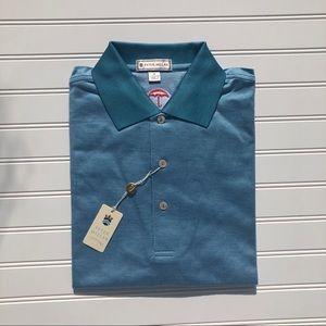 NWT Peter Millar Polo Golf Shirt Jewel Blue Size S